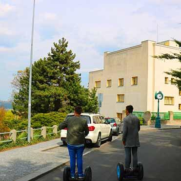 Muller's villa - on the segway fun in Prague