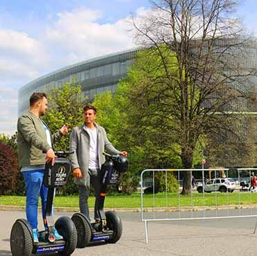 Prague's national technical library on segway fun tour