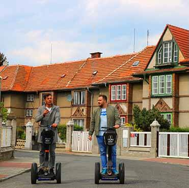 Old Streshovice sights on segway fun route in Prague