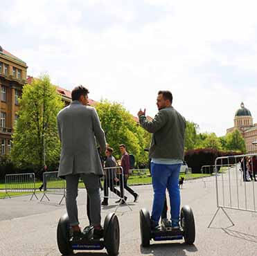 University complex in Prague, segway fun ride