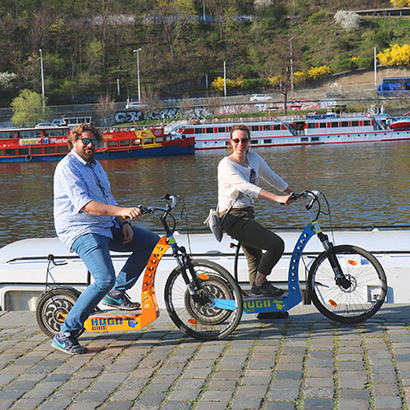E-sooter tour on Vltava riverside