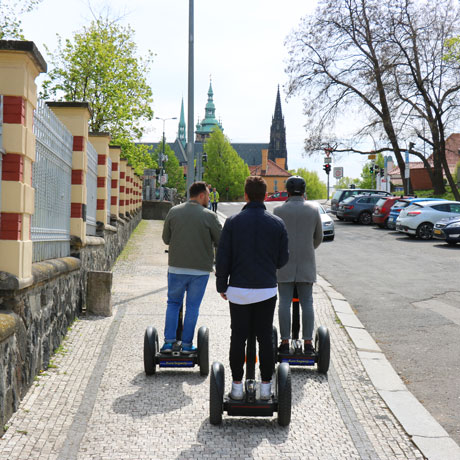 Way to the Prague Castle on Segway