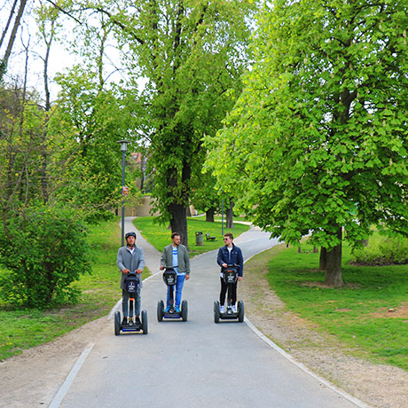 Segway fun park ride in Prague