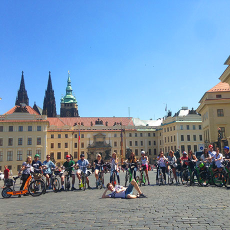 Prague Castle Hugo scooter tour