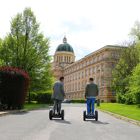 Prague University complex on segway