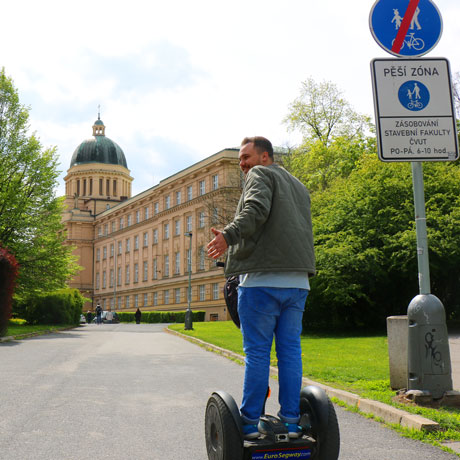 Segway rides along bishops conference building