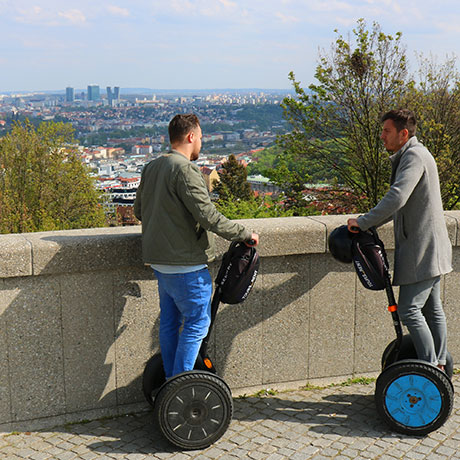 Strahov viewpoint on segway tour in Prague