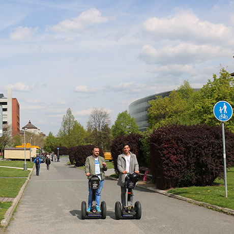 Prague University on segway tour